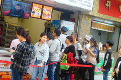 Shenzhen, China: Handmade Bread, people queue up to buy Royalty Free Stock Images