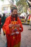 Shenzhen, China: het bedelen van mensen Fortuna te spelen Royalty-vrije Stock Foto