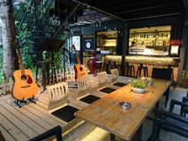 Shenzhen, China: Het Landschap van de koffiewinkel, in Cultureel Industrieterrein royalty-vrije stock foto's