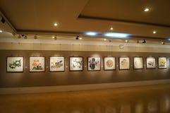 Shenzhen, China: Het schilderen de Werkententoonstelling Royalty-vrije Stock Foto
