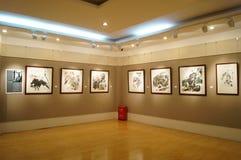 Shenzhen, China: Het schilderen de Werkententoonstelling Royalty-vrije Stock Foto's