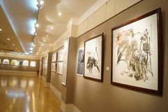 Shenzhen, China: Het schilderen de Werkententoonstelling Stock Foto's