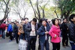 Shenzhen China: het vervoer van het de lentefestival Royalty-vrije Stock Afbeeldingen