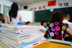 Shenzhen, China: High School open parents Royalty Free Stock Photography