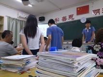 Shenzhen, China: High School open parents Stock Photos
