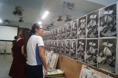 Shenzhen, China: high school students painting studio Stock Photography
