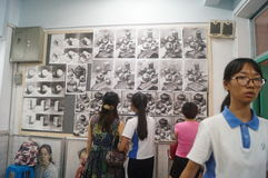 Shenzhen, China: high school students painting studio Stock Images