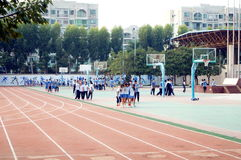 Shenzhen, China: High School Students Sports Division Royalty Free Stock Photo