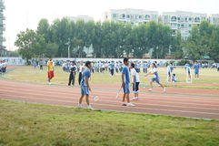 Shenzhen, China: High School Students Sports Division Royalty Free Stock Image