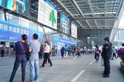 Shenzhen, China: High-Teche Messe Stockbild