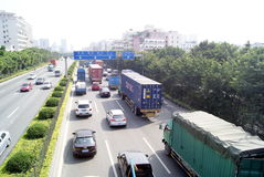 Shenzhen china: highway landscape Royalty Free Stock Photos