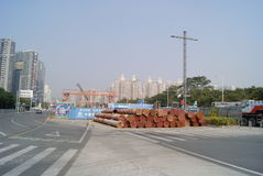 Shenzhen, china: highway and subway construction Royalty Free Stock Images