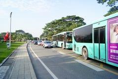 Shenzhen china: highway traffic Royalty Free Stock Image
