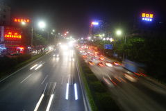Shenzhen, China: highway traffic at night Stock Photography