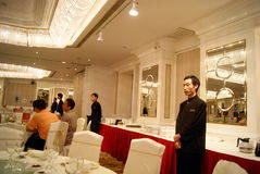 Shenzhen china: hotel banquet hall Stock Photos