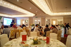 Shenzhen china: hotel banquet hall royalty free stock photography