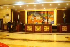 Shenzhen, China: hotel lobby Royalty Free Stock Photography