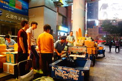 Shenzhen, China: huaqiang electronic world electronic components express logistics Stock Photos
