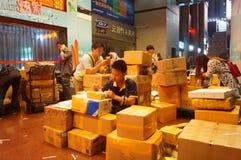 Shenzhen, China: huaqiang electronic world electronic components express logistics Stock Photography