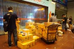 Shenzhen, China: huaqiang electronic world electronic components express logistics Stock Image