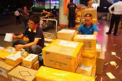 Shenzhen, China: huaqiang electronic world electronic components express logistics Royalty Free Stock Image