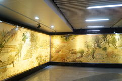 Shenzhen, China: imitation of ancient mural landscape Stock Photos