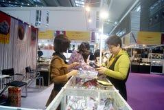 Shenzhen, China: International Gold Jewelry Fair Stock Photo