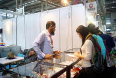 Shenzhen, China: International Gold Jewelry Fair Royalty Free Stock Photos
