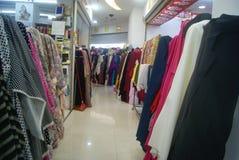 Shenzhen, China: Internationale Textilstadt Lizenzfreies Stockfoto
