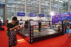 Shenzhen, China: internationale virtuele werkelijkheid, holografische technologietentoonstelling Royalty-vrije Stock Afbeeldingen