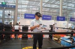 Shenzhen, China: internationale virtuele werkelijkheid, holografische technologietentoonstelling Stock Fotografie
