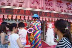 Shenzhen, China: jade jewelry store promotional activities Stock Photo