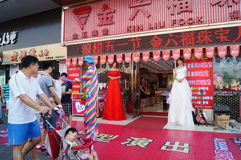 Shenzhen, China: jade jewelry store promotional activities Royalty Free Stock Photos