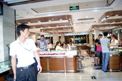 Shenzhen, china: jewelry store Royalty Free Stock Images