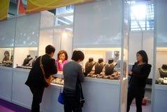 Shenzhen, China: Joia internacional do ouro justa Imagens de Stock