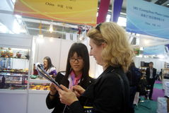 Shenzhen, China: Joia internacional do ouro justa Fotografia de Stock Royalty Free