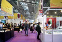Shenzhen, China: Joia internacional do ouro justa Imagem de Stock