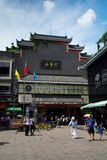 Shenzhen, China - July 16, 2018: Dong Men Pedestrian street in t Royalty Free Stock Photos