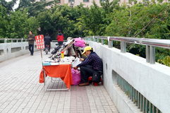 Shenzhen, China: kant van de wegboxen Royalty-vrije Stock Foto's