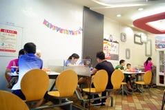 Shenzhen china: in kentucky fried chicken consumpt Stock Photos
