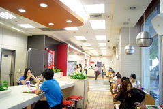 Shenzhen china: in kentucky fried chicken consumpt Stock Photography