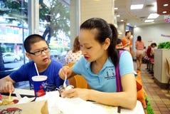 Shenzhen, china: kfc restaurant Royalty Free Stock Photos