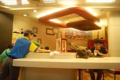 Shenzhen, China: KFC restaurant interior landscape Royalty Free Stock Photos