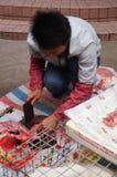 Shenzhen, China: killing the rabbit Stock Images
