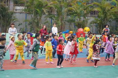Shenzhen, China: kindergarten playground, children in activities Stock Image