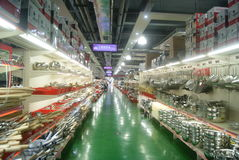 Shenzhen, China: kitchen supplies store Royalty Free Stock Image