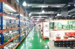 Shenzhen, China: kitchen tableware sales Royalty Free Stock Photos