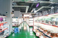 Shenzhen, China: kitchen tableware sales Stock Image