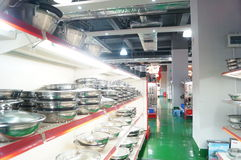 Shenzhen, China: kitchen tableware sales Stock Photography