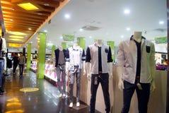 Shenzhen, China: kledende opslag Stock Afbeelding